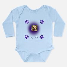 hugg-a-bull purple Long Sleeve Infant Bodysuit
