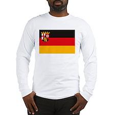 Rheinland Pfalz Flag Long Sleeve T-Shirt