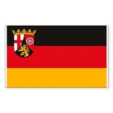 Rheinland Pfalz Flag Rectangle Decal