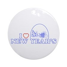 I Heart New Year's Ornament (Round)
