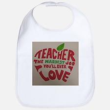 Teacher Love Bib
