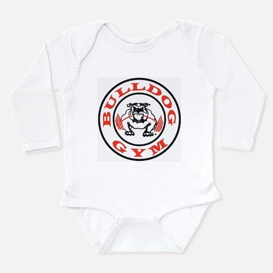 Bulldog Gym Logo Long Sleeve Infant Bodysuit