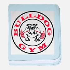 Bulldog Gym Logo baby blanket