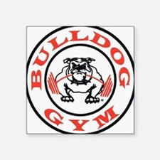 "Bulldog Gym Logo Square Sticker 3"" x 3"""