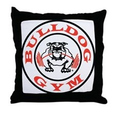 Bulldog Gym Logo Throw Pillow