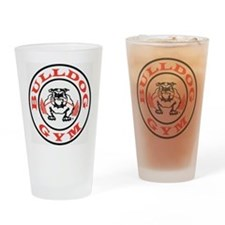Bulldog Gym Logo Drinking Glass