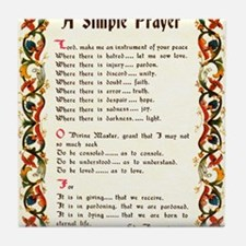A Simple Prayer by Saint Francis of Assisi Tile Co