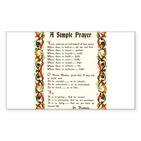 A Simple Prayer by Saint Francis of Assisi Sticker