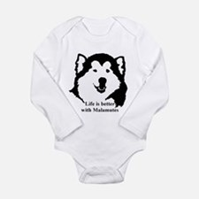 Life is better with Malamutes Long Sleeve Infant B