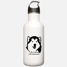 Life is better with Malamutes Water Bottle