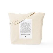 The DESIDERATA Poem by Max Ehrmann. Tote Bag