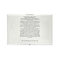 The DESIDERATA Poem by Max Ehrmann. Rectangle Magn