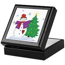 Country Snowman Keepsake Box