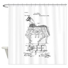 Mechanical horse Shower Curtain