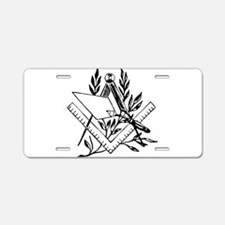 Masonic Tools Aluminum License Plate