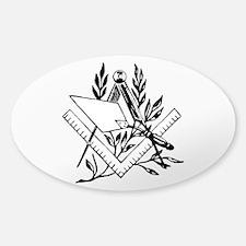 Masonic Tools Sticker (Oval)