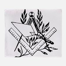 Masonic Tools Throw Blanket