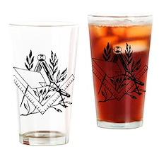Masonic Tools Drinking Glass
