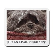 Lhasa Apso Pop Art Blitz Mousepad