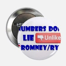 "Numbers Don't Lie Unlike Romney/Obama 2.25"" Button"