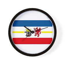 Mecklenburg Vorpommern Flag Wall Clock