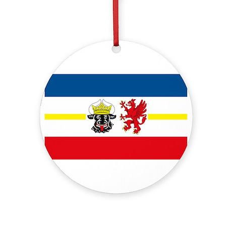 Mecklenburg Vorpommern Flag Ornament (Round)