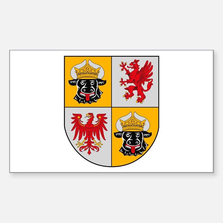 Mecklenburg Vorpommern Coat o Sticker (Rectangular