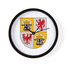 Mecklenburg Vorpommern Coat o Wall Clock