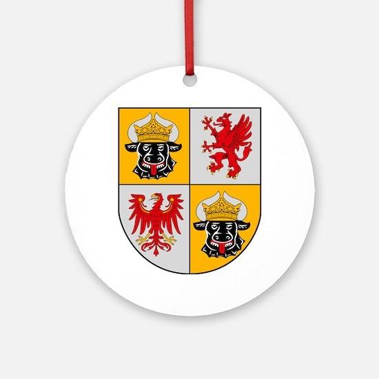 Mecklenburg Vorpommern Coat o Ornament (Round)