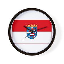Hessian Flag Wall Clock