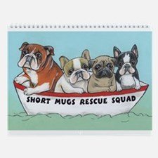 Unique Chicago french bulldog rescue Wall Calendar