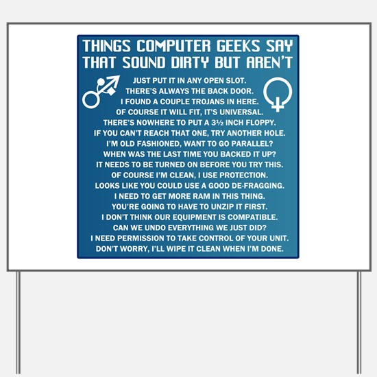 Dirty Computers Yard Sign