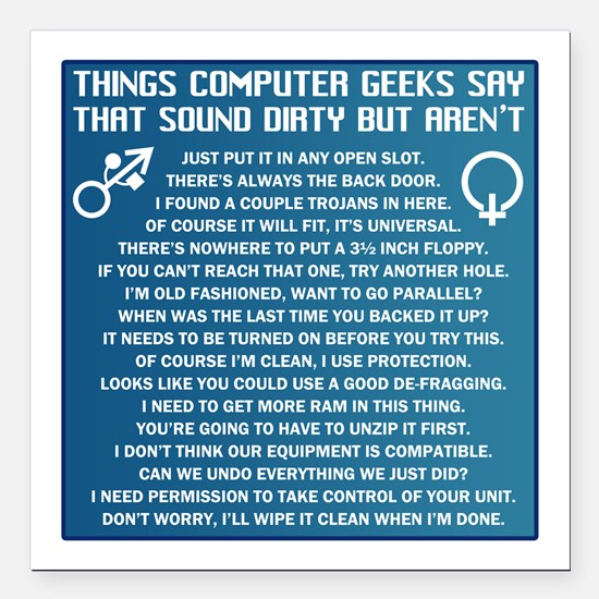 "Dirty Computers Square Car Magnet 3"" x 3"""