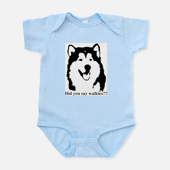 Did you say walkies? Infant Bodysuit
