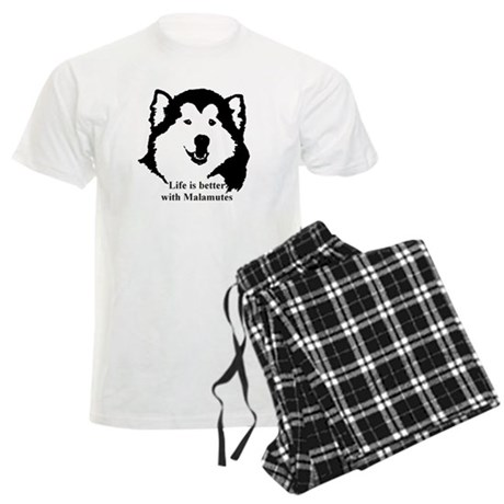 Life is better with Malamutes Men's Light Pajamas