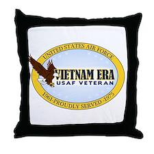 Vietnam Era Vet USAF Throw Pillow