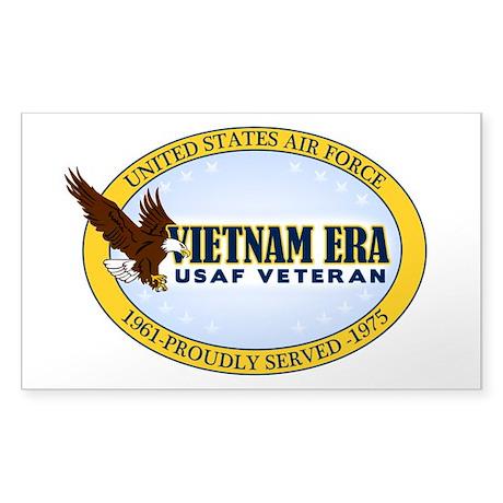 Vietnam Era Vet USAF Sticker (Rectangle)