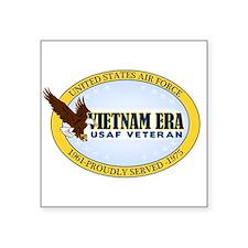 "Vietnam Era Vet USAF Square Sticker 3"" x 3"""