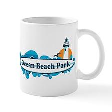 Ocean Beach Park CT - Surf Design. Mug