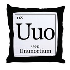 Elements - 118 Ununoctium Throw Pillow