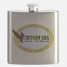 Vietnam Era Vet USCG Flask