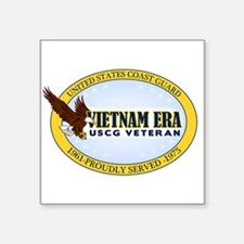 "Vietnam Era Vet USCG Square Sticker 3"" x 3"""