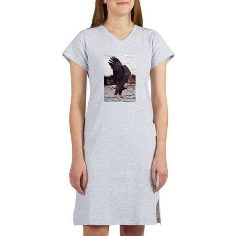 Bald Eagle, Fish in Talons Women's Nightshirt