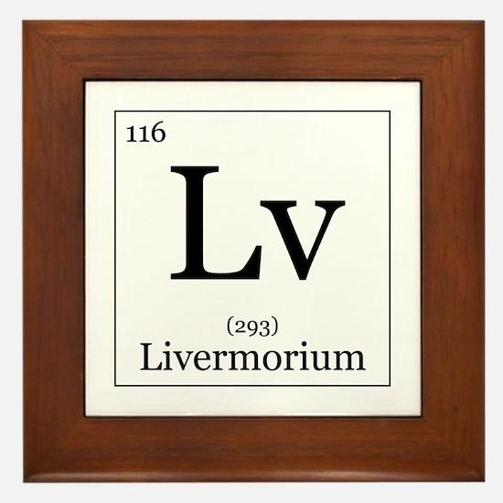Elements - 116 Livermorium Framed Tile