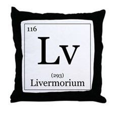 Elements - 116 Livermorium Throw Pillow