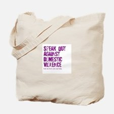 Purple Speak Out! Tote Bag