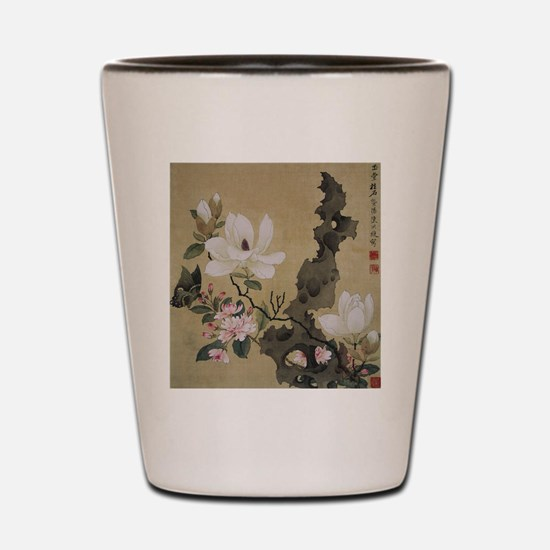 Chen HongShou Leaf Album Painting Shot Glass