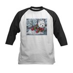 Patches Rescue Westie Kids Baseball Jersey