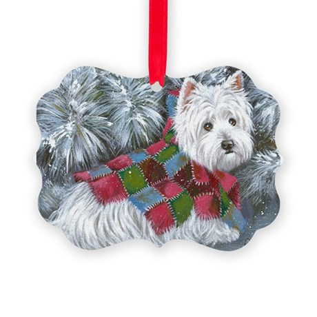 Patches Rescue Westie Picture Ornament