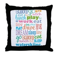 Waterskiing Gift Throw Pillow
